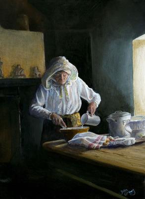 Baking day at Cregneash