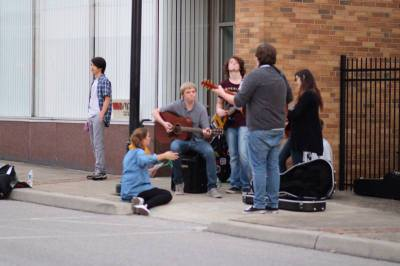 Local Kids Busking on Olde Main
