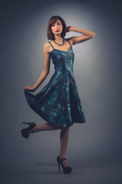 50's Style in blue