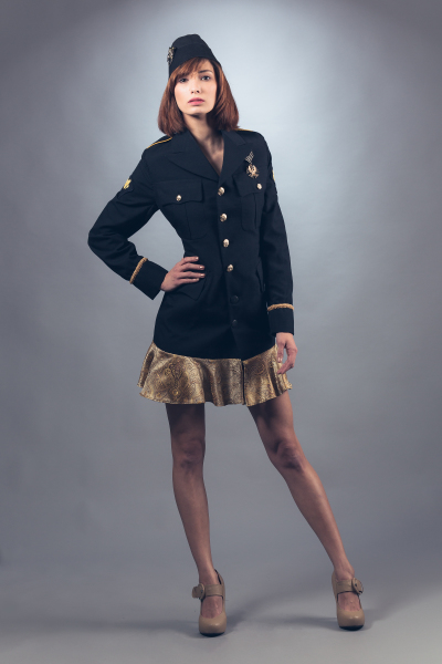Military Inspired Jacket Dress
