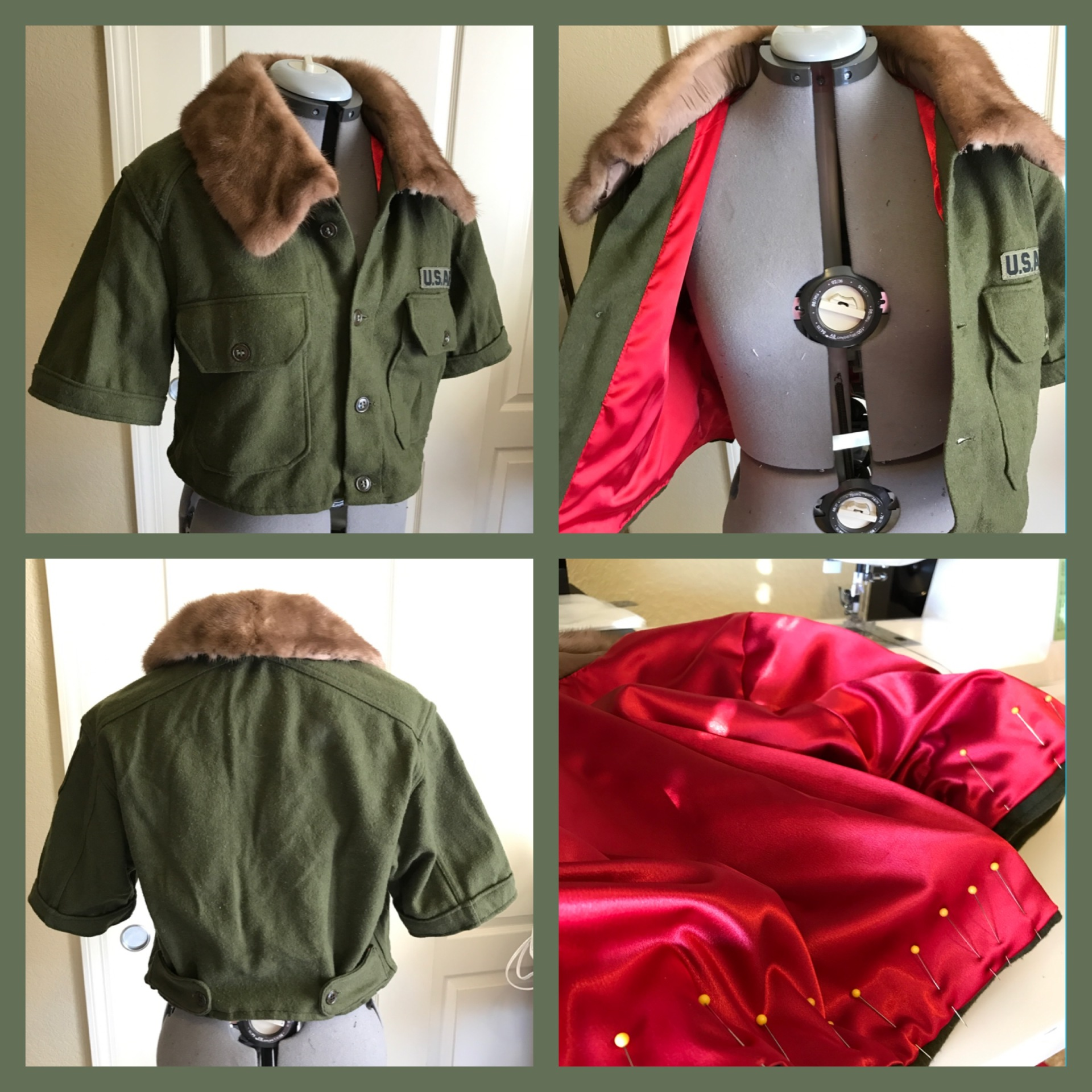 Military Style Crop Jacket