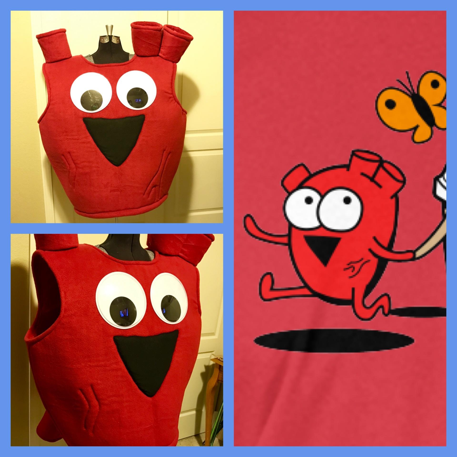 Heart Costume from The Awkward Yeti