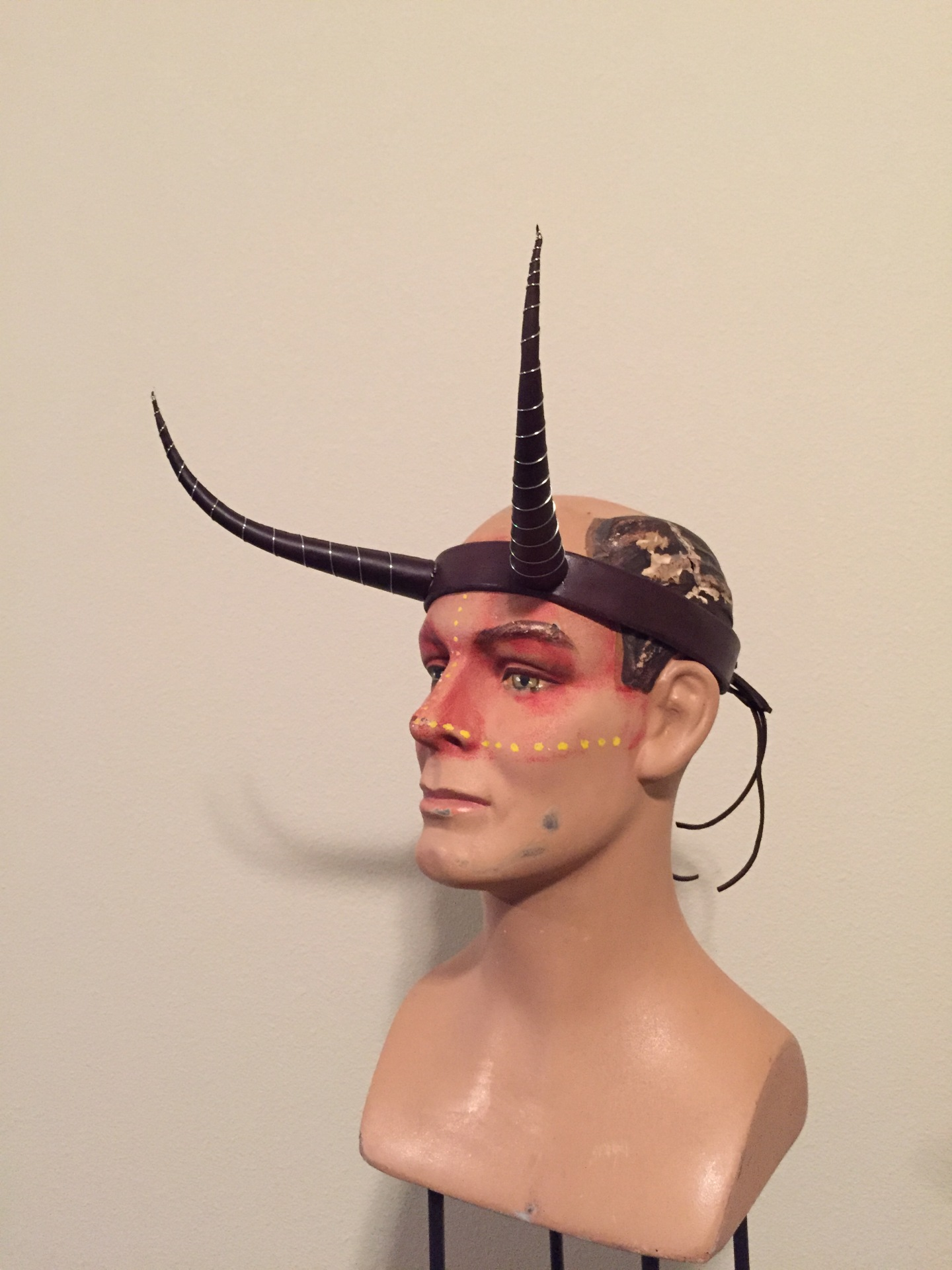 Custom Leather Horns