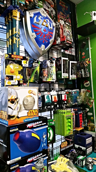 Action Figures, Arcade Sticks, Role Playing Gear, Koozies, Star Wars Collectibles