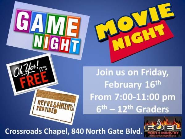 Youth Game & Movie Night