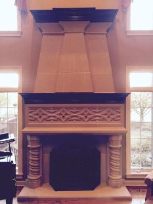 Davinci stone fireplace