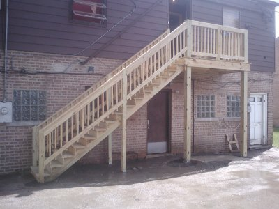 Porch and stairs finished