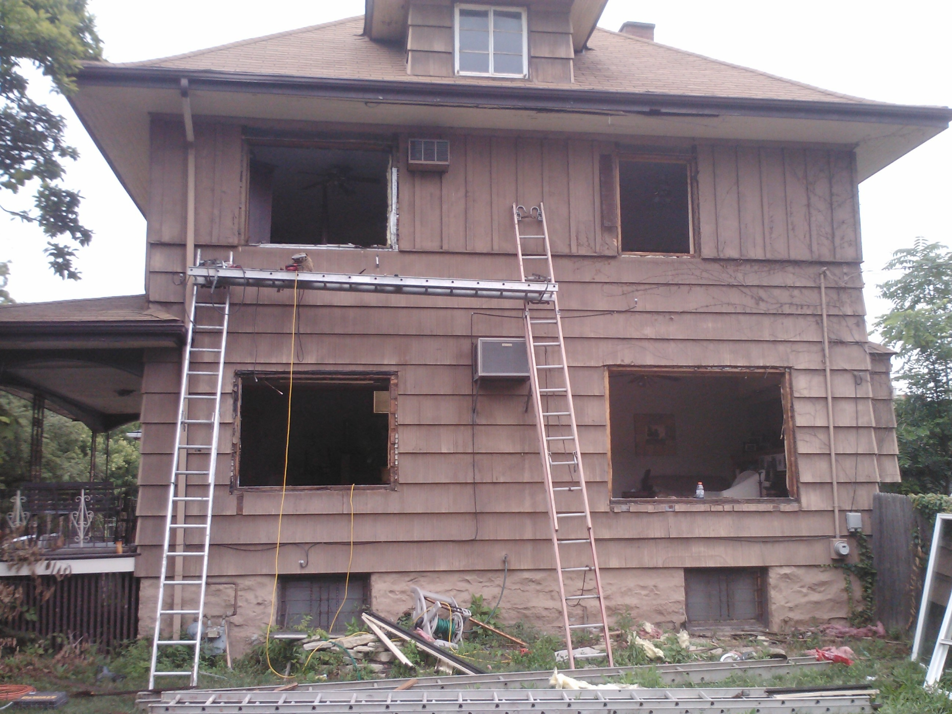 Exterior remodel before