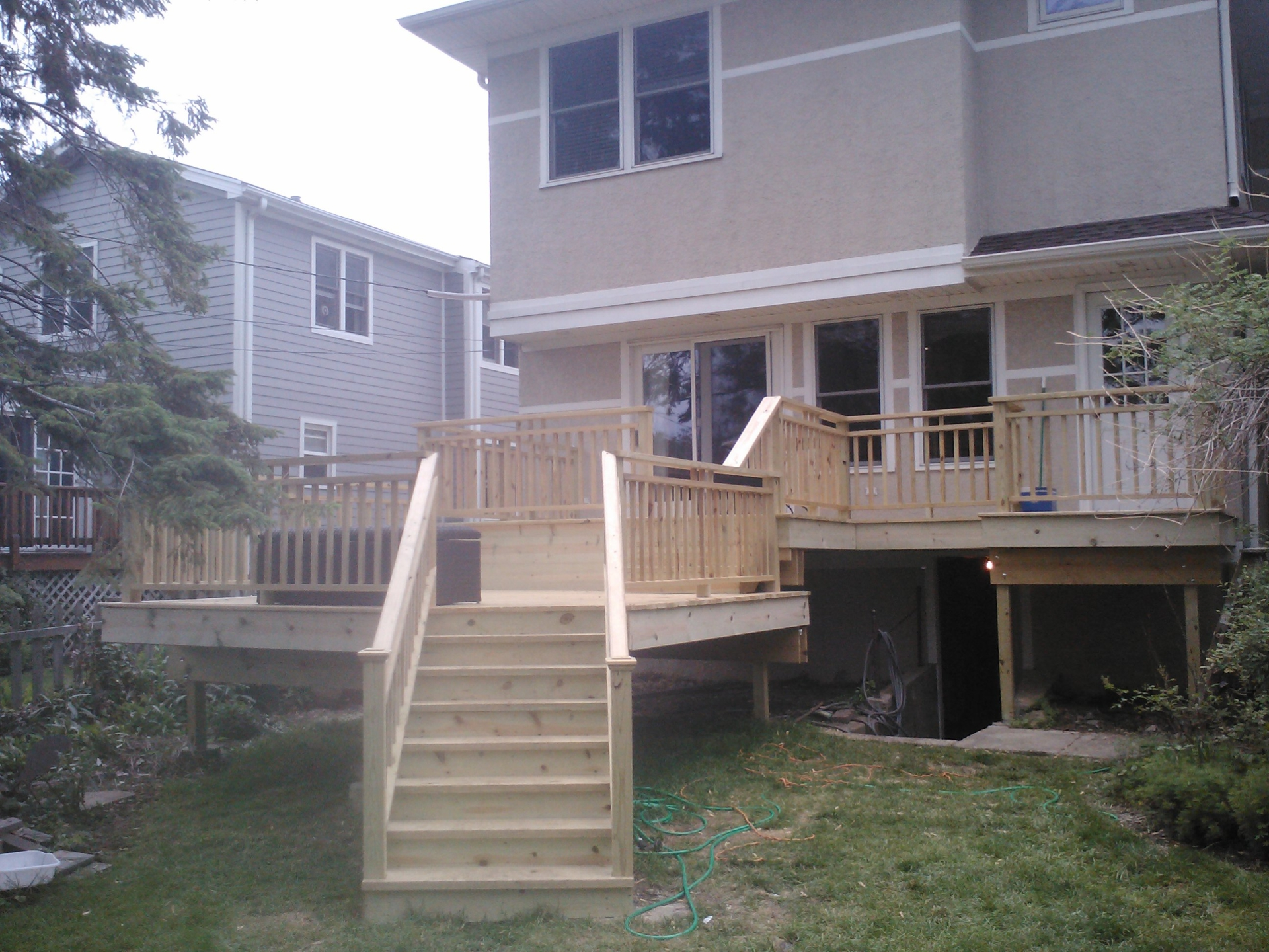 Finished two level deck