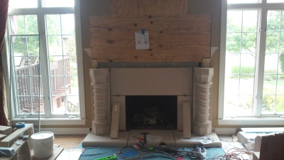 Fireplace halfway