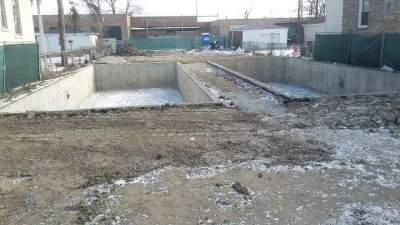 Foundation for 2 single family homes