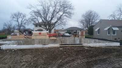 Framing of single family home in Elmhurst