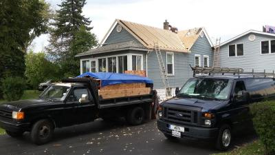 Framing of new roof