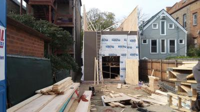 Framing of single family home