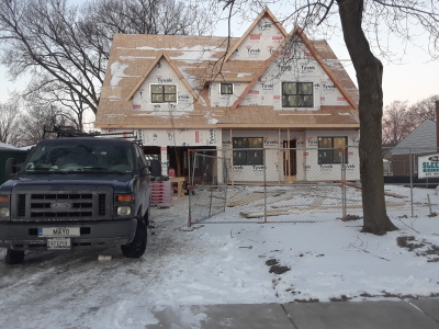 Framing of 3600 sq ft single family home