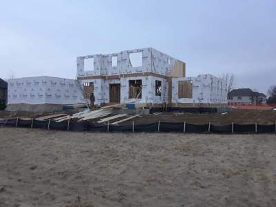 Framing of 4100 sq ft single family home