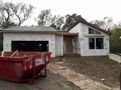 Framed 2300 sq ft single family home