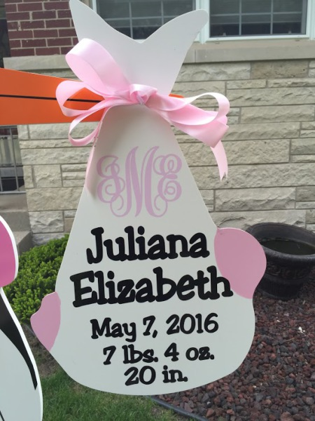stork sign rentals, stork birth announcement, rent a stork, monograms