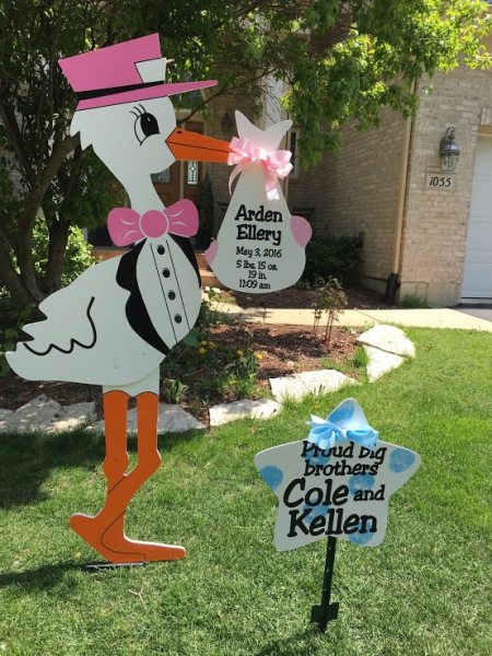 stork sign rentals, stork birth announcement, rent a stork,