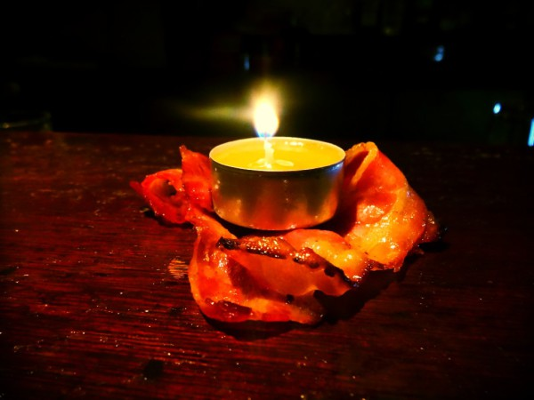 bacon candle