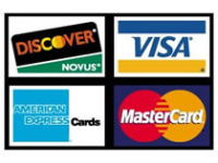 VISA,MASTER CARD,AMEX, DISCOVER