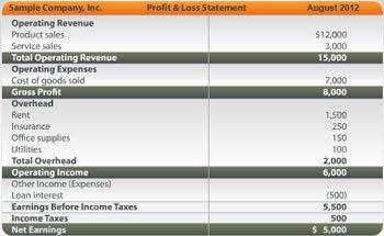 analyze profit loss
