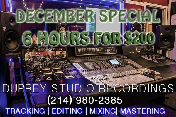 Dallas Studio Decembr special