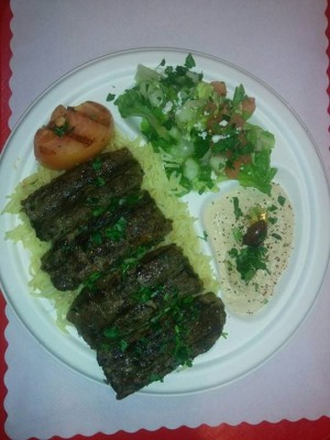 Beef (Kifta) Kebab Plate