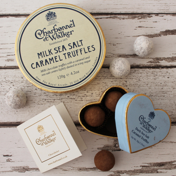 Charbonnel et Walker at Hamptons Club. Hand made chocolate truffles. Iconic sweets from our favourite chocolatier. Since 1875, Bond Street, London
