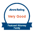 Avvo Very Good Rating Featured Attorney for Family Law