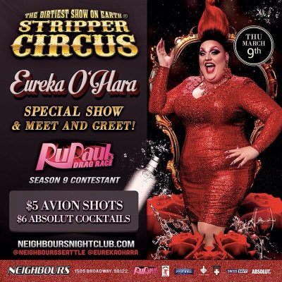 EUREKA TO APPEAR AT STRIPPER CIRCUS
