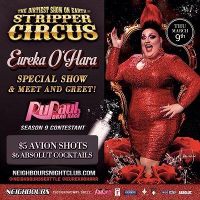 EUREKA TO APPEAR AT STRIPPER CIRCUS