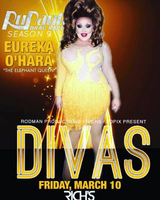 EUREKA TO APPEAR AT DIVAS - SAN DIEGO