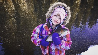 Ava Dortman enjoying the outdoors!