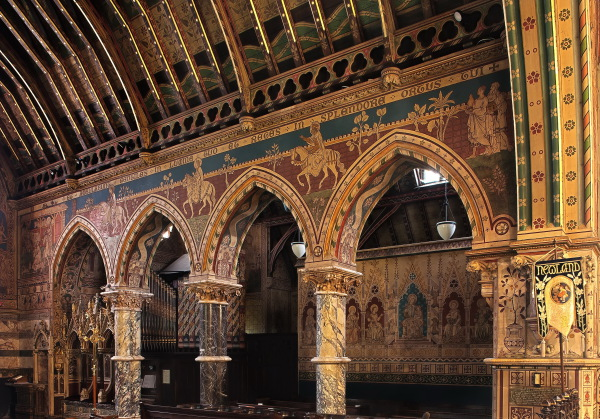 Chancel Arcade Frescoes by Clayton & Bell
