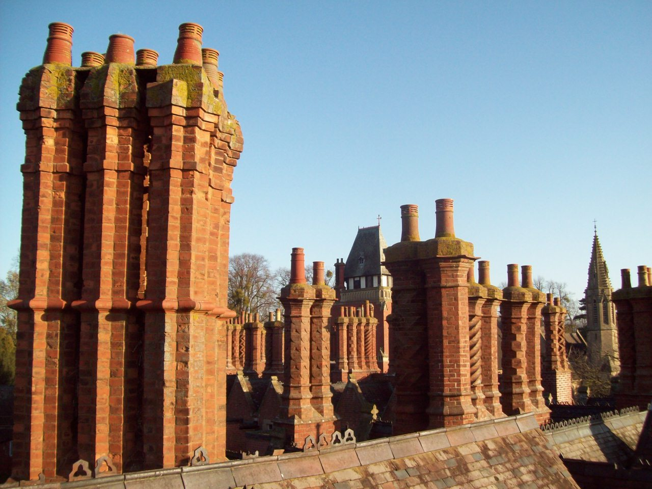 The famous 'Barley Sugar' chimneys