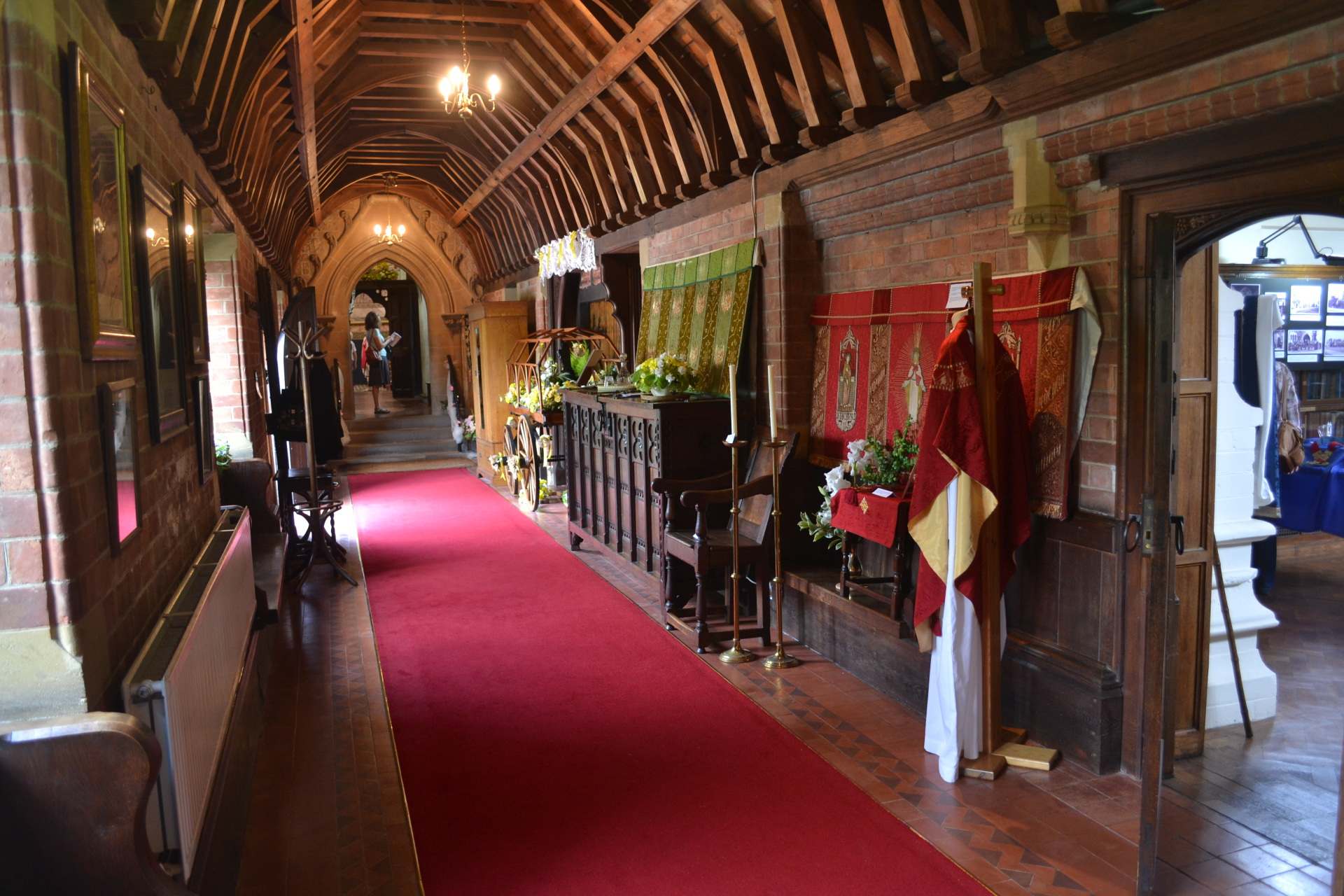 The cloister being used as an exhibition area