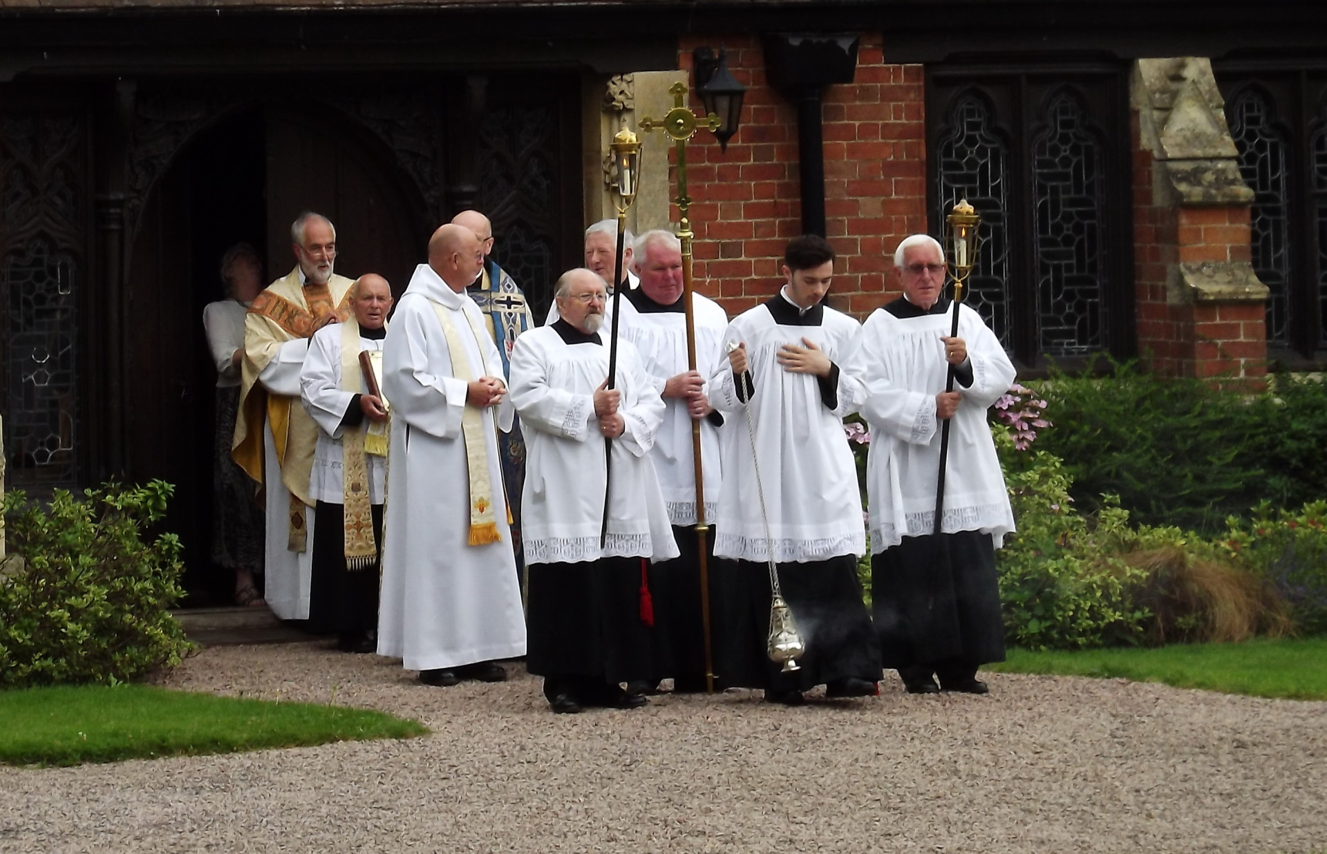The procession moves off from the Cloister door