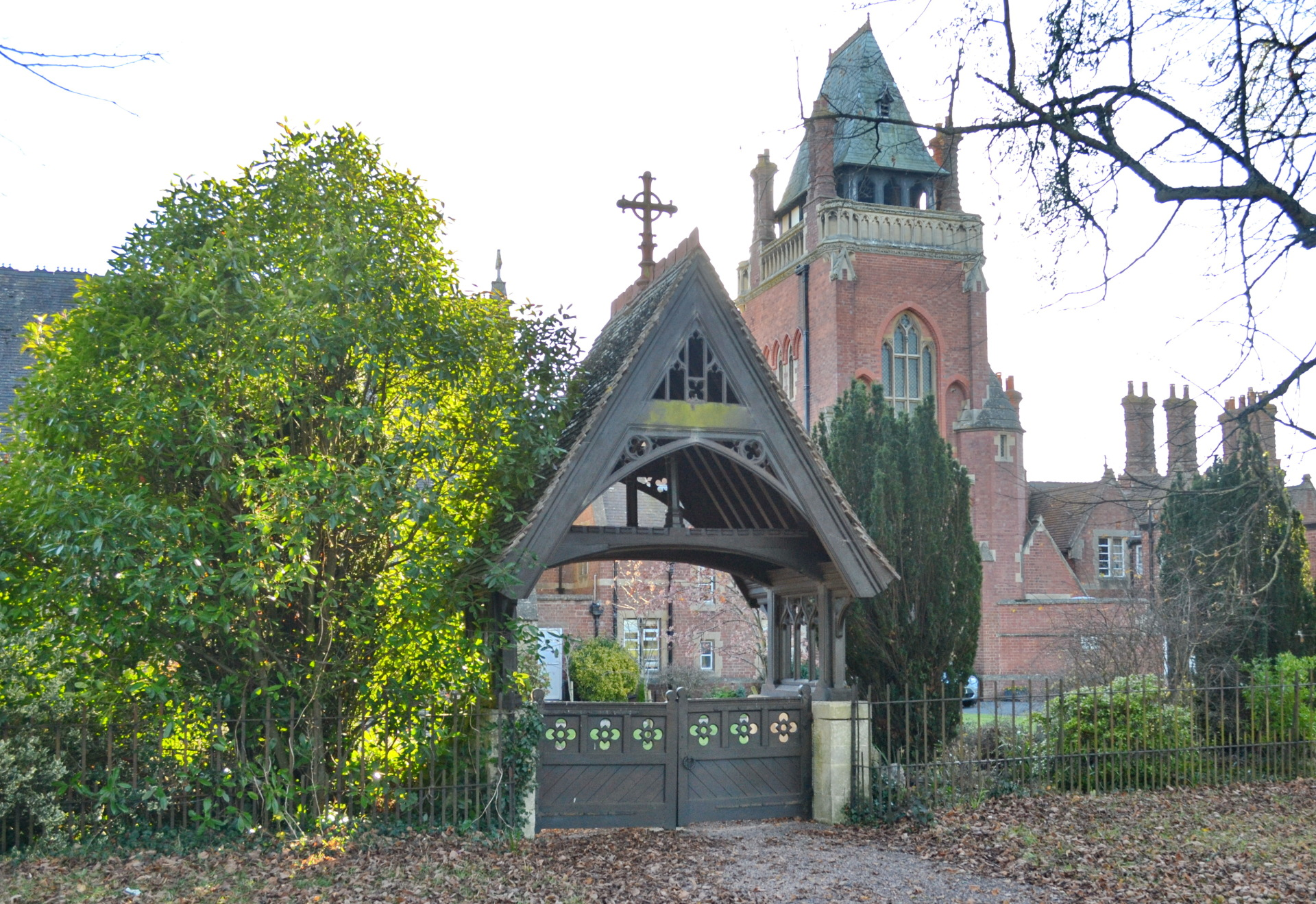 Lychgate and Clock-tower looking from the road