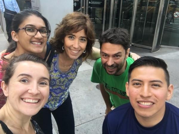 Dr. Jordi Magrané, Dr. Cristina María Lao Peregrin, Dr. Rebeca Valero Gils, Giussepe Yanez, and Niharika Desiraju