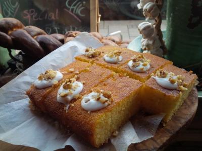 Cake Zorati - Persian Semolina and Rosewater Cake