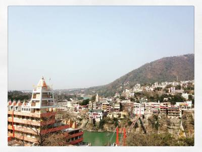 Rishikesh view  (Laxman Julha bridge)