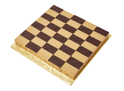 "#PBC25M1 9"" X 9"" Checkerboard shape platter (40 pieces)"