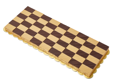 "#PBC25L 6"" X 16"" Checkerboard shape platter (54 pieces)"