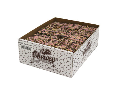 ALMONDS & CHSHEWS with a pink chocolate drizel  (Item # BCNACP-BULK)