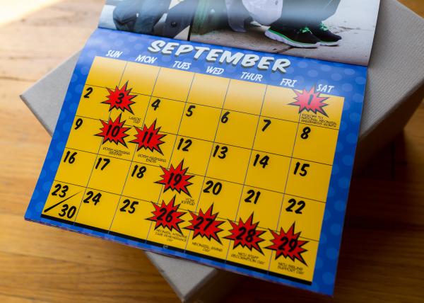The Superhero Project 2018 Calendar