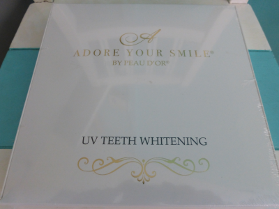 UV accelerated teeth whitening
