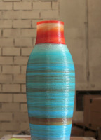 multi coloured tall vase