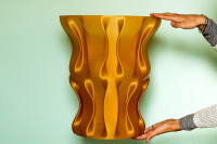 Gold Vase created with WASP 3D printer