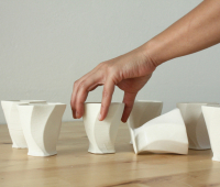Ceramic cups created with WASP 3D printer